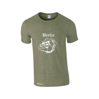 """Bulldogge"" Fun T-Shirt mit individuellem Städtenamen"