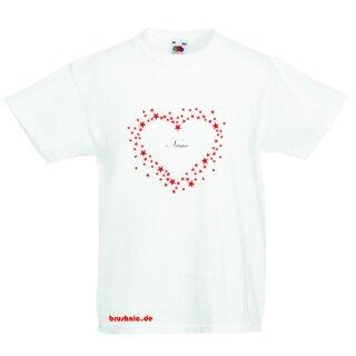 Kids T-Shirt Sternenherz mit individuellem Namen