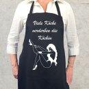 Kochschürze / Grillschürze Viele Köche verderben die Köchin