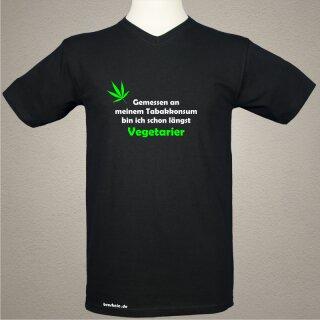 """""""Tabakkonsum Vegetarier"""" Fun und Spas T-Shirt"""