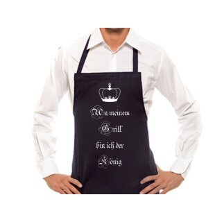 Kochschürze / Grillschürze An meinem Grill bin ich der König