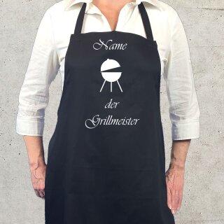 Kochschürze / Grillschürze Grillmeister mit individuellem Namen