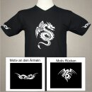 Tribal Drachen T-Shirt - S