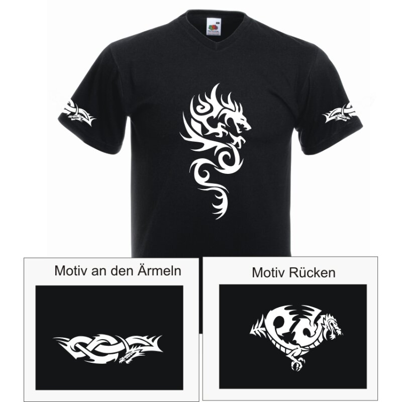 Tribal Drachen T-Shirt No.4