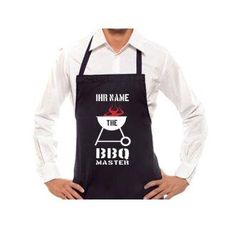 Grillschürze - BBQ Master mit individuellem Namen