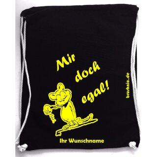 Turnbeutel Mir doch egal!, aus Baumwolle