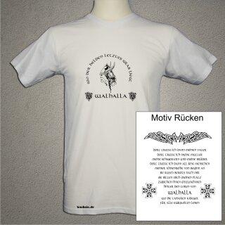 Walhalla Wikinger T-Shirt weiß beidseitig bedruckt
