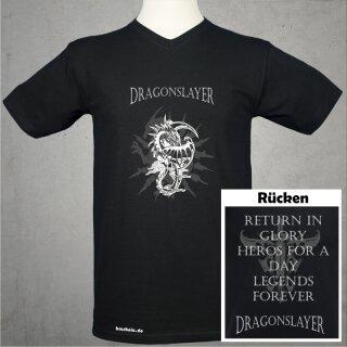 Dragonslayer T-Shirt beidseitig bedruckt - schwarz