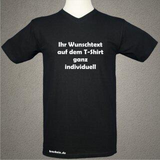 T-Shirt Men schwarz mit Wunschtext