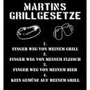 Kochschürze / Grillschürze Grillgesetze mit individuellem Namen