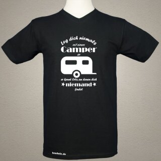 """T-Shirt Men """"Leg dich nicht mit einem Camper an"""" schwarz"""