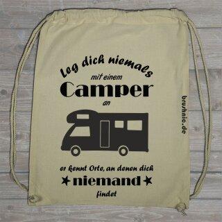 """Turnbeutel """"Leg dich nicht mit einem Camper an"""" WoMo"""